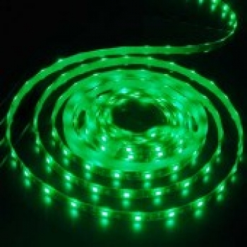 Grün, 5050, 500 cm., Wasserfest IP 65, -LED Strip,  Grundfarbe Gold, 30 Chips/mtr.